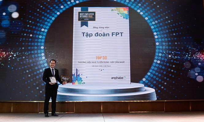 Sinh viên Việt Nam coi FPT là nhà tuyển dụng hấp dẫn nhất trong lĩnh vực CNTT