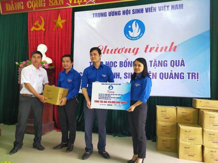 Tập đoàn Thiên Long phối hợp với Hội Sinh viên Việt Nam thăm và tặng quà hỗ trợ cho các em học sinh – sinh viên tại 03 tỉnh miền Trung