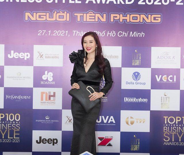 Á hậu Thu Hương: Người luôn tiên phong và tỏa sáng trong Lễ vinh danh Top 100 Phong Cách Doanh Nhân 2020 – 2021